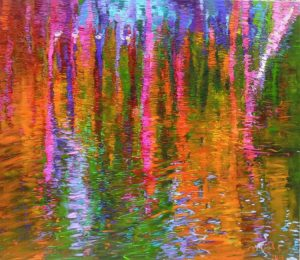 "abstract colorful painting ""Evening reflection 2"" by Atelier Zitnik"