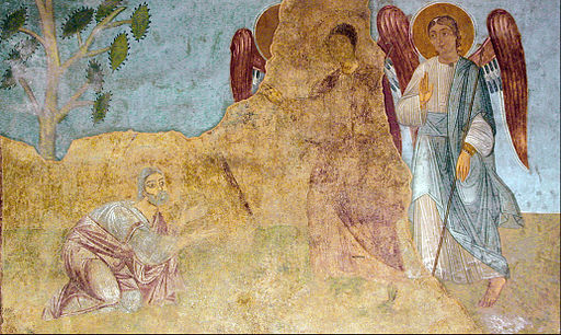 Image - fresco, Abraham meeting three angels