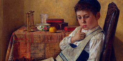 "Image - ""A Yeshiva Boy"" by Isidor Kaufman"