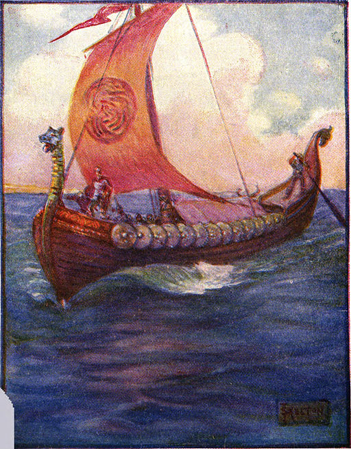 image - illustration from Stories of Beowulf