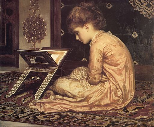 Image - young girl studying