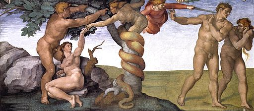 Image - forbidden fruit from the ceiling of the Sistine Chapel