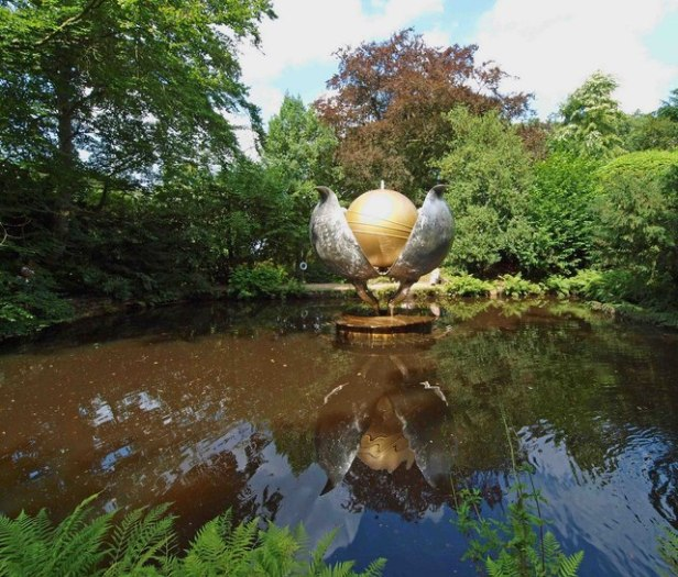 Image - water sculpture titled Revelation in Chatsworth's Park UK