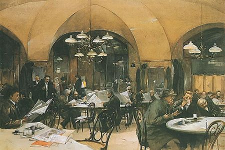 Image 19th c cafe