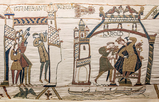Image Bayeux Tapestry Comet and Harold