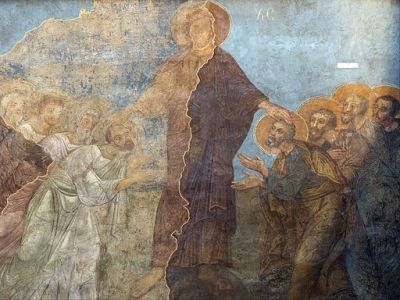 Image fresco mission of the apostles