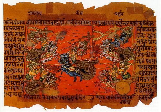 Image battle scene Kurukshetra