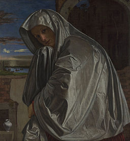 paiting Mary Magdalene at empty tomb