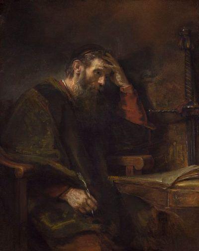 Saint Paul, by Rembrandt