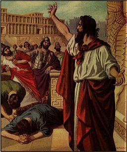 picture of prophet Jonah preaching in Nineveh