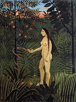 Henri Rousseau painting Eve and the Serpent