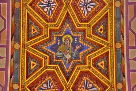 Ceiling mural of Prophet Amos