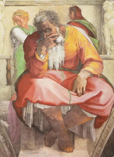 fresco of the Prophet Jeremiah