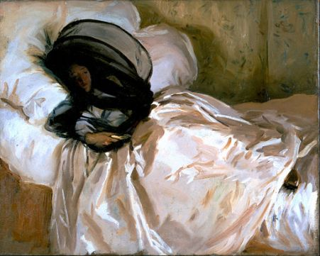 painting John Singer Sargent The Mosquito Net