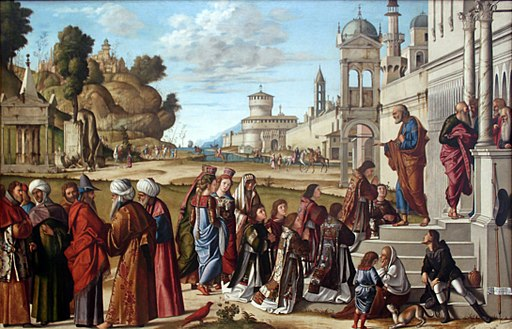 Painting by Carpaccio of the consecration of St Stephen