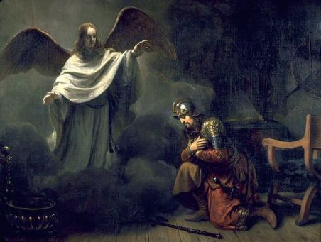 Painting of an angel visiting the soldier Cornelius