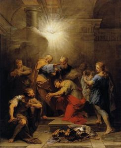 painting of Ananias restoring the sight of Saul aka St Paul