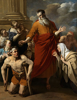 Karel Dujardin painting Paul healing lame man at Lystra