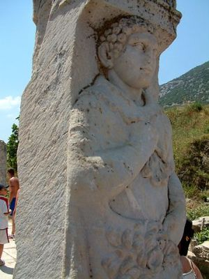 Hercules relief in a column from Ephesus