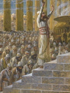 Tissot's depiction of Solomon praying at the dedication of the Temple