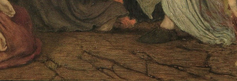 detail The Entombment Ford Madox Brown