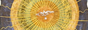 Holy Spirit represented in the form of a radiant dove