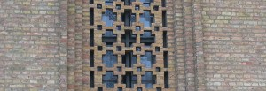 window behind masonry screen