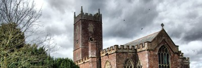 Halberton church tower and nave