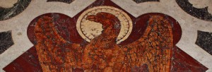Mosaic of eagle representing St John the Evangelist