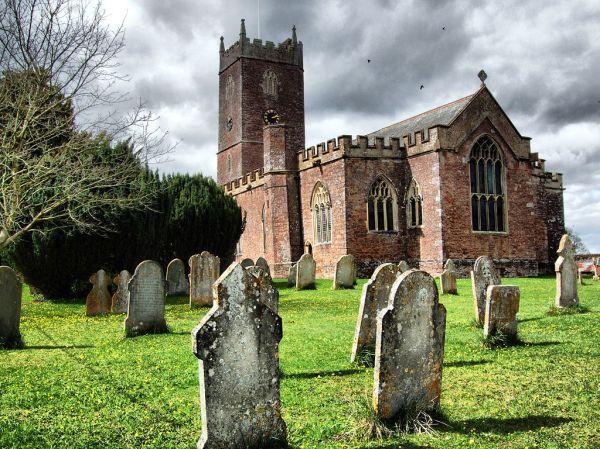 Gothic church and churchyard