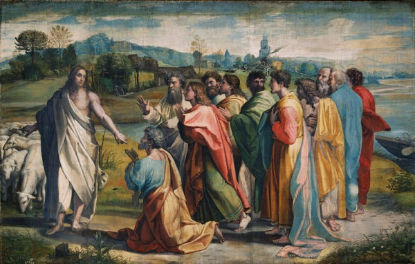 Christ's charge to Peter by Raphael