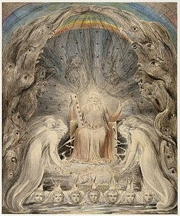 the heavenly throne room by William Blake