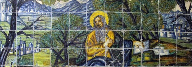 mosaic painting of Saint Paul writing