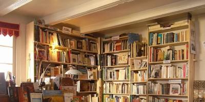 books on bookshop shelves
