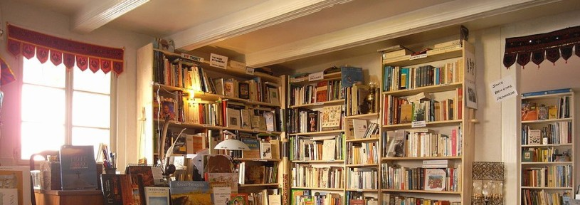 books on bookshop shelves