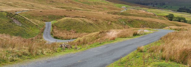 a long country road in the Yorkshire dales