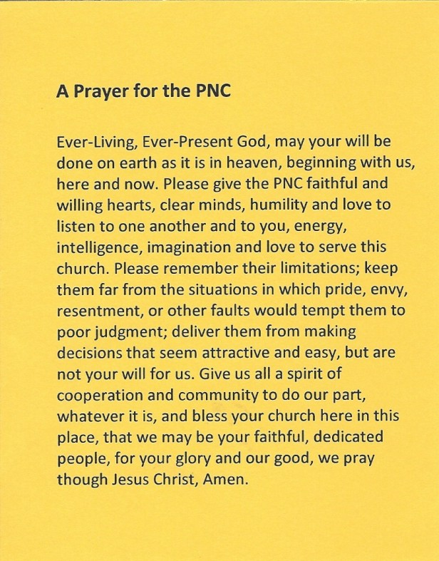text of a prayer for a Pastor Nominating Committee