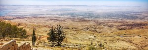 Vista of land of Israel from Mt. Nebo