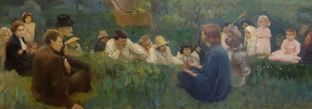 painting of figures seated on the ground
