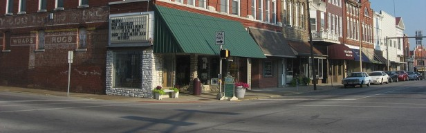 an intersection in Boonville, Indiana