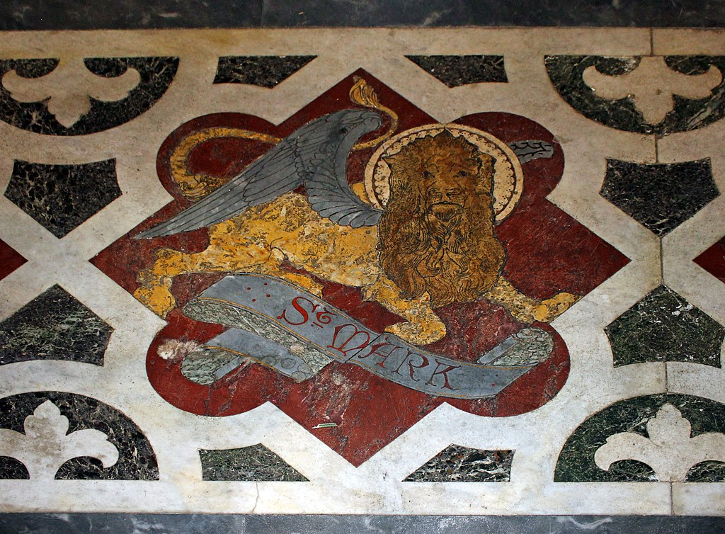 St Mark the Evangelist Mosaic showing angelic lion
