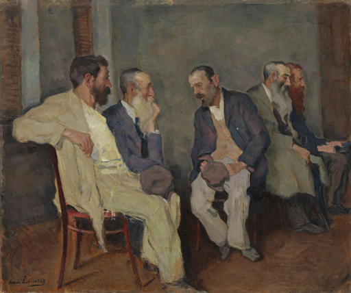 Men in conversation