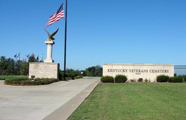 main entrance of Kentucky Veterans Cemetery West