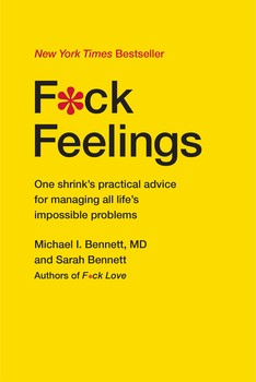 Cover of F*ck Feelings, plain yellow with text