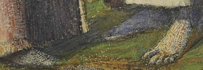 a painting of feet