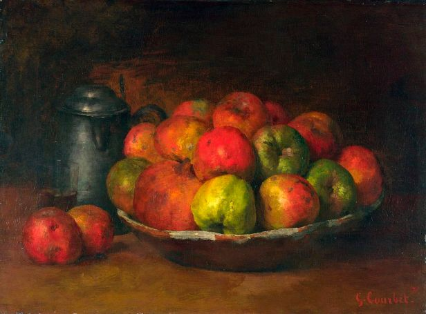 Gustave_Courbet_Still Life with Apples and a Pomegranate