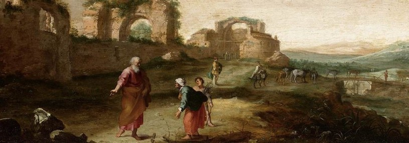 Elijah and the Widow of Zarephath, Dutch landscape