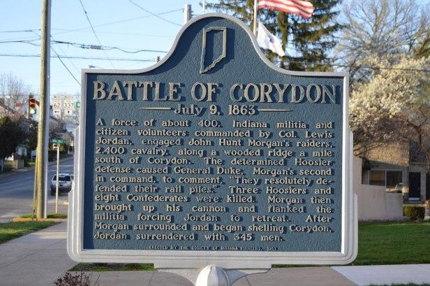 historical marker for Battle of Corydon