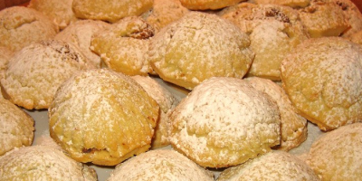 plate of homemade maamoul cookies