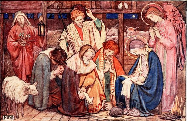 adotration of the shepherds, 1907 illustration
